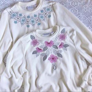 NWT Soft Sweatshirts 2 Alfred Dunner Womens Medium